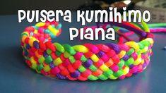 DIY pulsera kumihimo plana / DIY Kumihimo bracelet