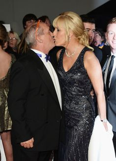 Jennifer Gibney Photos Photos - Brendan O'Carroll kisses Jennifer Gibney as they attend the National Television Awards at 02 Arena on January 2014 in London, England. - Arrivals at the National Television Awards — Part 2 Mrs Browns Boys, Death In Paradise, Prom Dresses, Formal Dresses, January 22, Red Carpet, London England, Awards