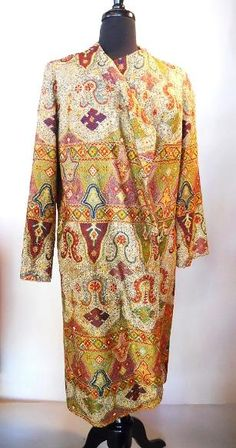 1920s Orientalist embroidered evening coat