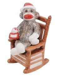 Sock Monkey Salt & Pepper by Sock monkey. Magnet holds Sock Monkey to Chair. x x Salt & Pepper Shaker Set. Barrel Of Monkeys, Sock Monkeys, Salt And Pepper Restaurant, Art Deco Kitchen, Polymer Clay Miniatures, Monkey Business, Salt And Pepper Set, Spice Jars, Salt Pepper Shakers