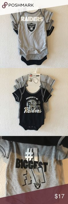RAIDERS 3 pack onesies Brand new onesies. 3 pack RAIDERS  One Pieces Bodysuits