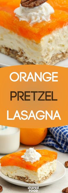 Out of noodles for lasagna? Great, because this Orange Pretzel Lasagna doesn't require any! In fact, this will be the sweetest lasagna you've ever come across, because it's a dessert lasagna! This scrumptious layered treat is filled with a cheesecake filling, pretzels, nuts, and mandarin oranges galore. This dish makes the perfect dessert for a crowd!