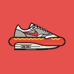 Lunch anyone..? @mmmaaayyyo Nike Hotdog artwork