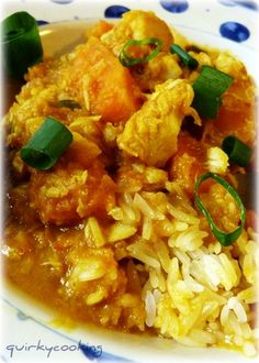 Quirky Cooking: Vietnamese fish curry with sticky rice. OK Thermomix, you've sold me Fish Recipes, Seafood Recipes, Asian Recipes, Dinner Recipes, Cooking Recipes, Ethnic Recipes, Cooking Blogs, Cooking Fish, Cooking Pasta