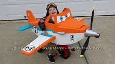 Disney Planes Dusty Crophopper Tricycle-mounted with Pilot Costume... Halloween Costume Contest