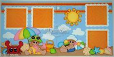 Elite4U-Premade-Scrapbook-Page-Paper-Piecing-Beach-Vacation-Sea-BLJgraves-32