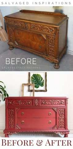 Before and After | Wet Distressed Look | Salvaged Inspirations #siblog #salvagedinspirations #paintedfurniture #furniturepainting #DIYfurniture #furniturepaintingtutorials #howto #furnitureartist #furnitureflip #salvagedfurniture #furnituremakeover #beforeandafterfurnuture #paintedvintagefurniture #roadsiderescues #chalkpaint #chalkpaintedfurniture #diyprojects #diyfurnituremakeover #furniturerestoration #furnitureideas #wetdistressed