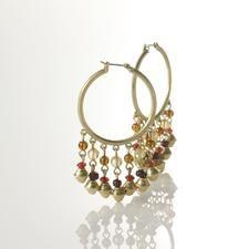 Multi-Bead Hoop Earring.