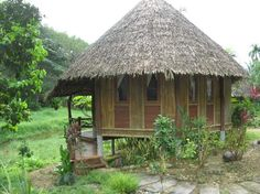 Bamboo Cottage Bamboo Building, Building A House, Dream House Plans, Dream Houses, Small Houses, Tiny House, Glamping Tents, Bahay Kubo, Bamboo Structure