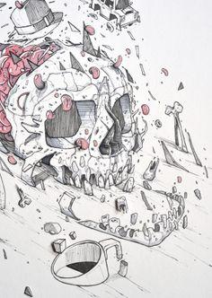 Hello Death - illustrations by Monsta , via Behance