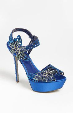 Stunning Women Shoes Beautiful High Heels Wonderful Shoes blue bling