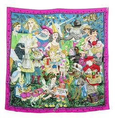 Hermes Scarf Shawl Silk Fairytales NWT Auth rare Hermes Scarves, Womens Scarves, Fairy Tales, Silk, Ebay, Fashion, Silk Scarves, Headscarves, Moda