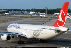 Turkish Airlines Airbus A330-343 at Singapore.