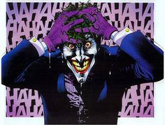 Perhaps the most famous Joker image, from the Killing Joke story.