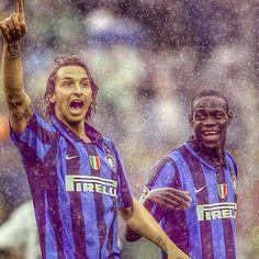 Zlatan Ibrahimovic and Mario Balotelli Inter Milan