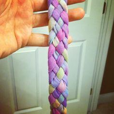 DIY 5 braid T-shirt headband
