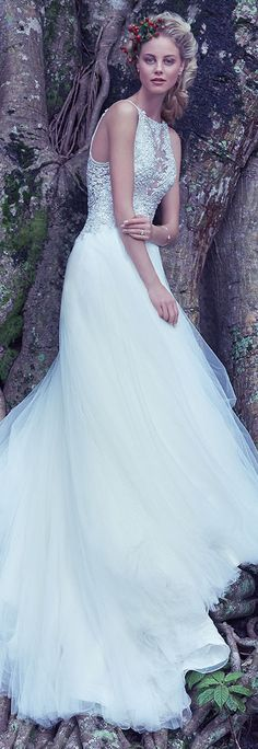 Wedding Dress by Maggie Sottero 2016 Fall/Winter Collection - Lisette | #maggiesottero #maggiebride