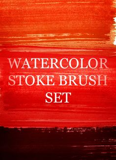 Watercolor Strokes Photoshop Brush Set~