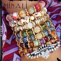 Southern Girls Wear Pearls ™ - Pearl & Leather Wrap Cuff Bracelet - Minali