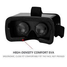 New 3D Google VR Box Virtual Reality Glasses Cardboard VR BOX Virtual Reality 3D Glasses For iPhone 7 Plus Free Shipping NOA26