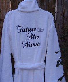 One Size Fits Most - Super Plush Robe Personalized Just For You!  Makes a GREAT GIFT for the bride, groom, wedding, girls getaway, mom, dad.