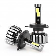 2PCS N7 Series H4 LED Headlight Bulbs 6000K Cool White Bulb Conversion Kit 8000LM 80W IP68 50000H Life