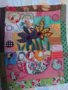 Textile art by Sue Dove at Trevoole Gardens 2014 ElsaDeeDee