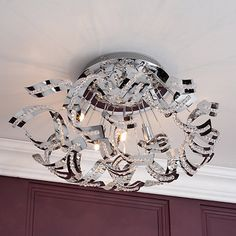 Photo 2 of lila sputnik ceiling light home style ideas pinterest litecraft twirl 6 light semi flush chrome ceiling light at debenhams aloadofball Choice Image