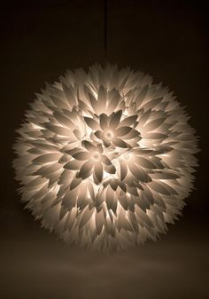 Let your vivacious sense of style bloom with this floral pendant light planted in your place! Flower Lamp, Flower Lights, Lanterns Decor, Paper Lanterns, Paper Lamps, Unique Wall Art, Room Wall Decor, Looks Cool, Hanging Lights