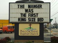 The manger was the first king size bed!