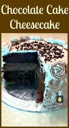 Chocolate Cake Cheesecake. Wow! Every Chocolate lover's dream!  #dessert