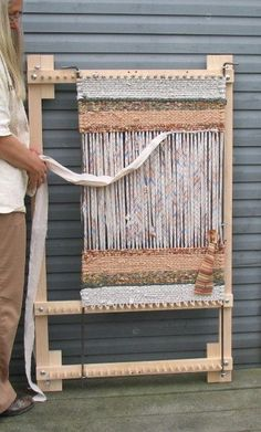 Twining Loom For Rugs, Place Mats or Table Runners in Solid Maple Adjustable Twining Loom For Rugs, Place Mats or Table Runners in Solid Maple - Libbylula.ComAdjustable Twining Loom For Rugs, Place Mats or Table Runners in Solid Maple - Libbylula. Rug Loom, Loom Weaving, Weaving Textiles, Tapestry Weaving, Homemade Rugs, Weaving Projects, Weaving Techniques, Rug Hooking, Loom Knitting