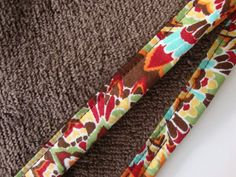 BROWN Hair Towel with Colorful Fabric Trim Head by TheTamedTowel