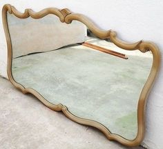 Large French Provincial Mirror/ Malcolm Furniture Company, Ontario.  c.1960's