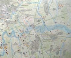 This map shows what London might have looked like during Anglo-Saxon times (roughly 500-1066 AD).