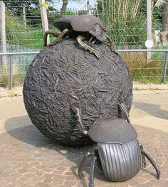 Dung Beatle Statue at London Zoo