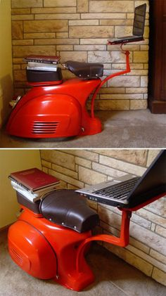 Vespa Notebook Desk Style