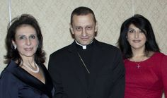 Founders Lucy Bruno and Camille Loccisano with Honoree Bishop Frank Caggiano