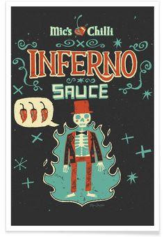 Inferno als Premium Poster von Steve Simpson   JUNIQE