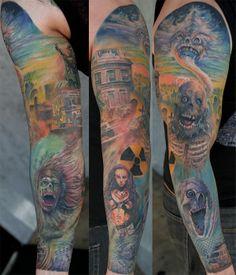 Return of the Living Dead sleeve tattoo