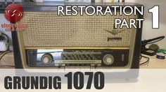 Grundig 1070 tube radio restoration - Part 1. First look.