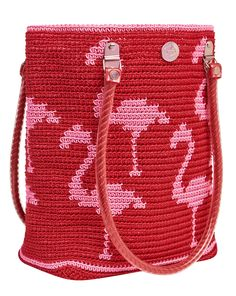 I'm obsessed with Flamingo patterns at the moment so this great Flamingo Fashion Tote from Skipping Girl has made the shopping list for summer - Love Love Cute Handbags, Vintage Handbags, Mochila Crochet, Handbag Storage, Pink Tote Bags, Pink Flamingos, Flamingo Beach, Flamingo Print, Crochet Purses