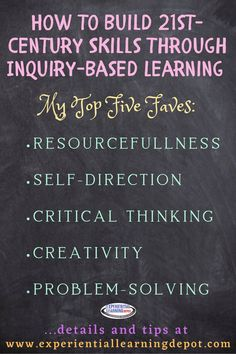 Inquiry-based learning is a highly effective way to incorporate 21st-century skill-building into your high school curriculum, whether that be in a classroom or from home.  Critical thinking, creativity, and problem-solving among others, are organically infused in inquiry learning experiences. Take advantage!
