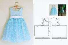 vestido Princess Dress Patterns, Baby Girl Patterns, Baby Girl Dress Patterns, Baby Clothes Patterns, Dress Sewing Patterns, Clothing Patterns, Toddler Outfits, Kids Outfits, American Girl Doll Sets