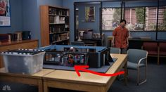 """The group's diorama included a tiny Chang watching from the window. 