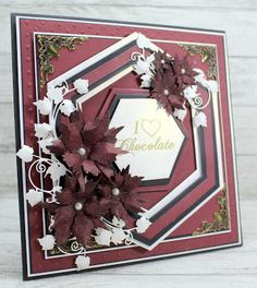 John Next Door: Burgundy Swirl. Red Christmas, Christmas Cards, Next Door, Happy Friday, Birthday Cards, Projects To Try, Burgundy, My Favorite Things, Creative