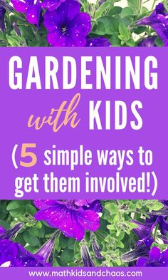 Gardening with kids - 5 ways to get them involved! If you're a keen gardener AND. Gardening with k