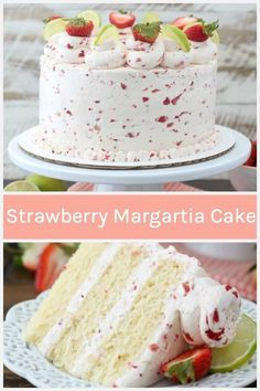 Strawberry Margarita Layer Cake is a homemade tequila and lime infused moist cake recipe with a strawberry Swiss meringue buttercream. Homemade Strawberry Cake, Strawberry Cake Recipes, Strawberry Margarita Cupcakes, Strawberry Tequila, Summer Cake Recipes, Raspberry Desserts, Moist Strawberry Shortcake Recipe, Strawberry Buttercream Cake Recipe, Strawberry Cheesecake Cake
