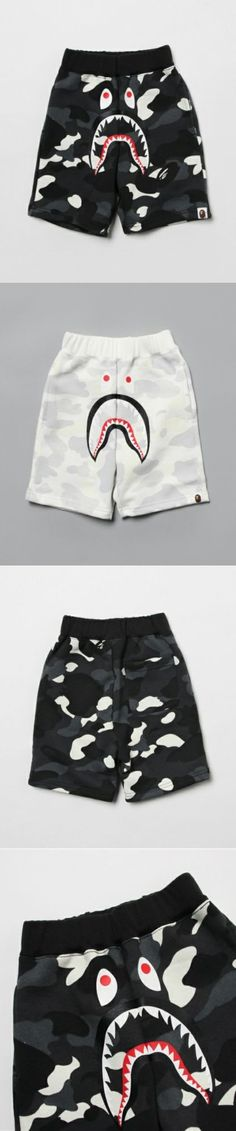 0e4acadc3b Shorts 175655: A Bathing Ape City Camo Shark Sweat Shorts Bape Kids Camouflage  Shorts From Jp -> BUY IT NOW ONLY: $168 on eBay!