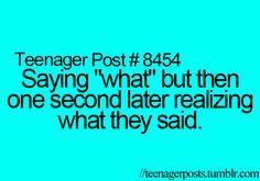 Well, Tori will say this is me, but mainly I'm posting because this is the first teenager post I've ever seen with a single digit, and I legit was starting to think they started at 50 to confusing people and boost their numbers, hahahahah! Funny Relatable Memes, Funny Quotes, So Relatable Posts, Funny Teenager Quotes, Clash On, Funny Teen Posts, Teen Life, Teen Quotes, My Guy